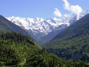 View of the Caucasus Mountains in Svaneti