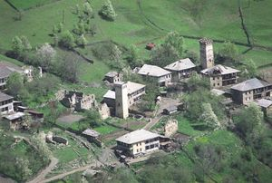 Medieval towers in Mestia, Upper Svaneti